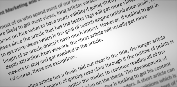 In short, what is a SEO article?!?